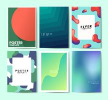 Colorful flyer template design illustration