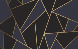 Modern mosaic wallpaper in black and gold