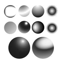 Zwart halftone kenteken op witte vectorreeks als achtergrond