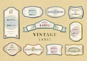 Vintage tags and labels