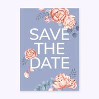 Biglietto di auguri floreale con uno schema viola