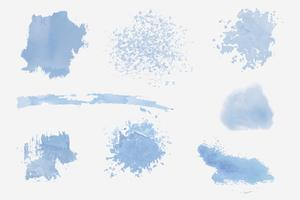 Paint splatter design elements set vector