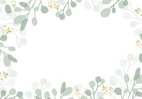 Grön blommig bakgrund