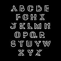 Vit retro alfabeter vektor uppsättning