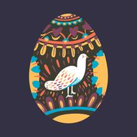 Easter egg design illustration