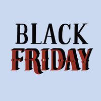 Handskriven stil av svart fredag typografi