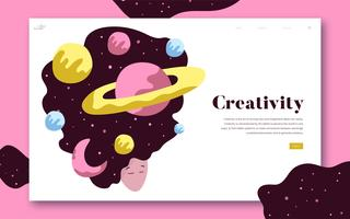 Creativity and space website graphic