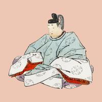 Shogun por K? No Bairei (1844-1895). Mejorado digitalmente desde nuestra propia edición original de Bairei Gakan en 1913.