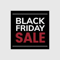 Black Friday sale tag vector