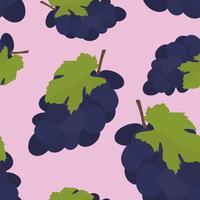 Dibujado a mano colorido patrón de uva