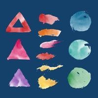 Acuarela formas geométricas vector set