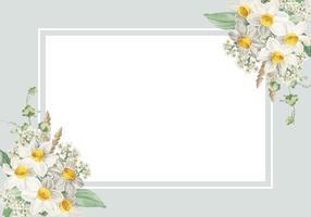 Carta incorniciata di fiori di Pasqua