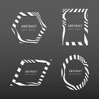 Ensemble de vecteurs de modèle de badge abstrait