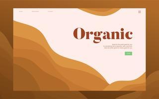 Organisk plantering informativ webbplats grafisk