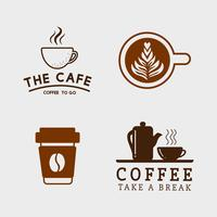 Set of coffee elements and coffee accessories vector