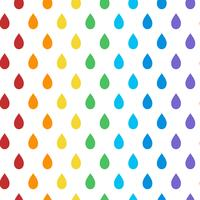 Seamless colorful droplet pattern vector