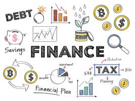 Finance and financial performance concept illustration