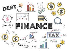 Finanzas y la ilustración del concepto de rendimiento financiero