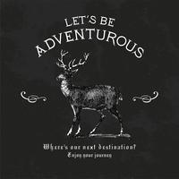 Laten we avontuurlijke logo-ontwerp vector zijn