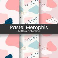 Pastel Memphis vecteur de design