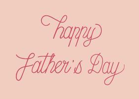 Glückliche Vatertags-Typografiedesignillustration
