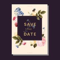 Salve o convite de casamento de data