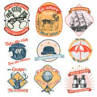 Vintage logo's en stickers collectie