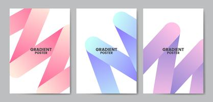 Colorful gradient posters
