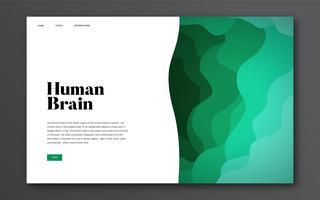 Informations-Website-Grafik des menschlichen Gehirns