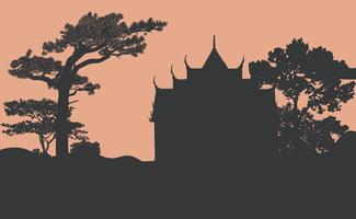 Conception de vecteur silhouette Wat Benjamabhopit