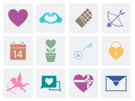 Collection of Valentines Day love icons