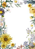Carte de voeux en fleurs