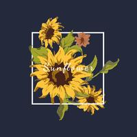 Sunflower badge design