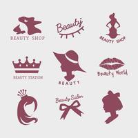 Insieme di vettori di icone di salone di bellezza