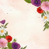 Cornice di fiori selvatici