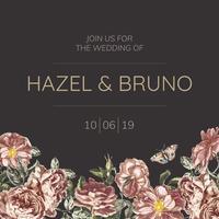 Designs de convite com tema floral