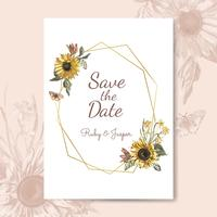 Floral themed invitation designs vector