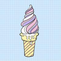Illustration glace isolée sur fond