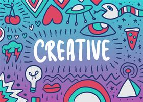 Creative doodle illustration vector