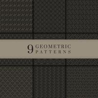 Svart och guld geometrisk mönstersamling
