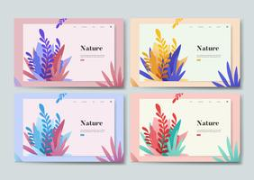 Gráfico informativo de la naturaleza y plantas.