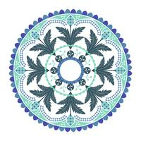 Blue Indian mandala