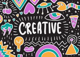 Ilustración creativa del doodle