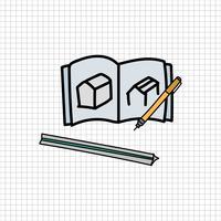 Vettore di stile doodle di elementi decorativi