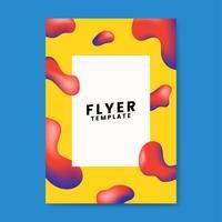 Design gráfico de modelo de folheto colorido