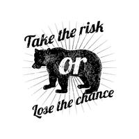 Take risks badge