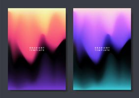 Colorful gradient wallpaper template design