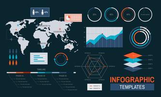 Vector van infographic sjablonen ontwerpen