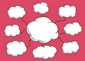 Wolk tekstballon illustratie
