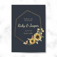 Floral themed invitation designs vector